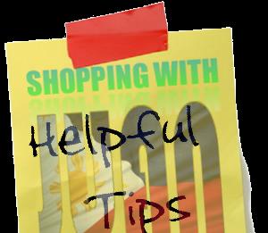 shopping helpful tips