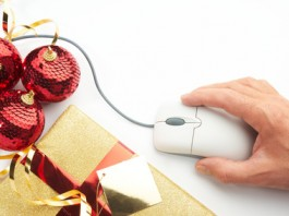 Online internet Christmas shopping